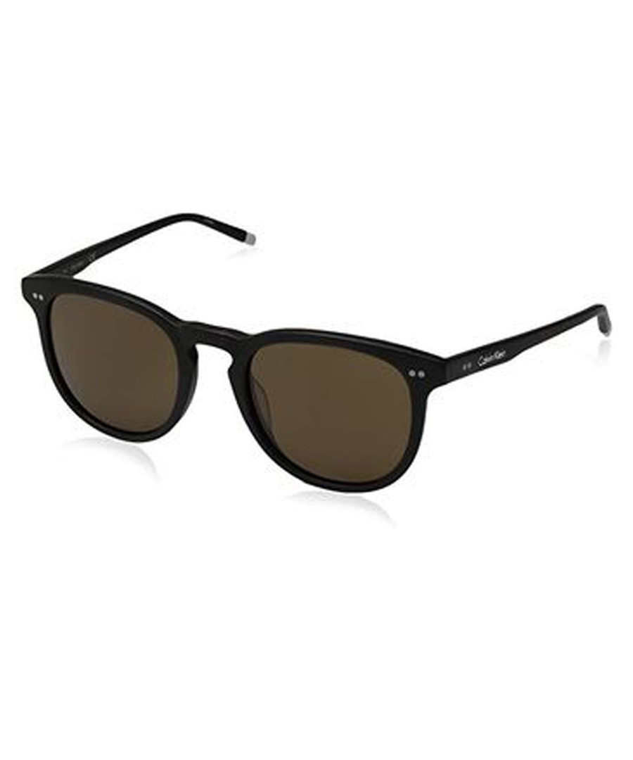 Black & brown round sunglasses Sale - calvin klein