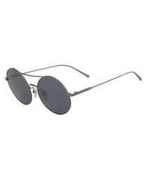 Grey round sunglasses