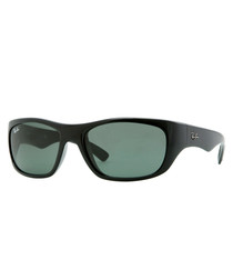 Black & crystal green sunglasses