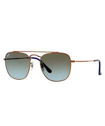 Bronze-tone & blue gradient sunglasses
