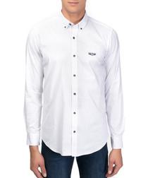Samil white cotton long sleeve shirt
