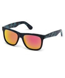 Orange & red camouflage sunglasses