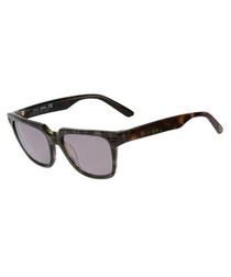 Havana & black square sunglasses