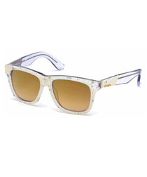 Clear frame & yellow sunglasses