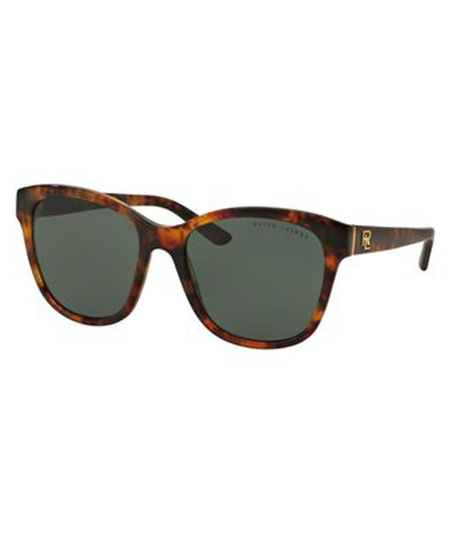Havana & green oversized sunglasses Sale - ralph lauren