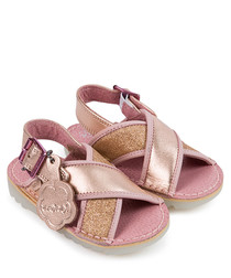 Kick Faerie rose gold-tone sandals