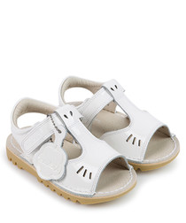Kick T-vel white sandals
