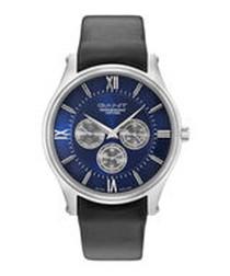 Blue & black leather watch