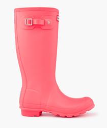 Kids' hyper pink wellingtons