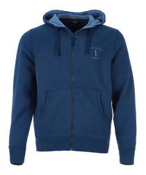 Mr Classic navy zip hoodie