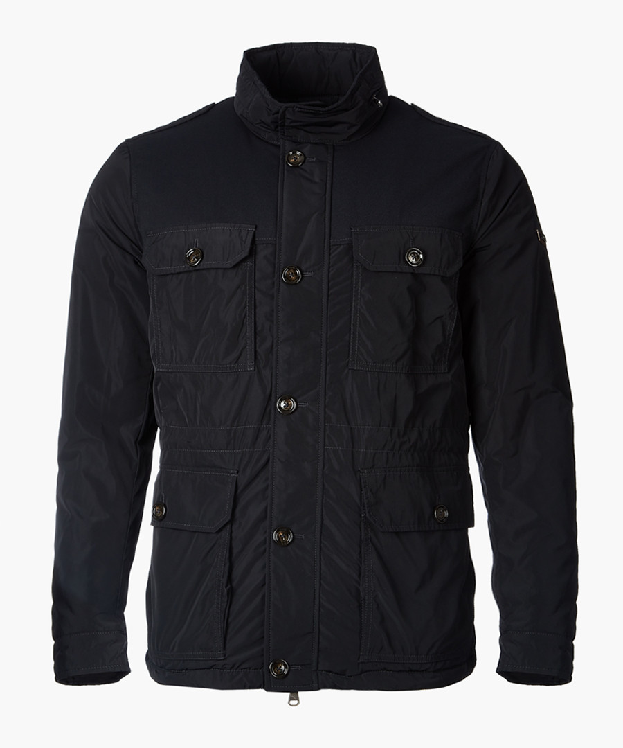 Arborfield navy button-up coat Sale - hackett