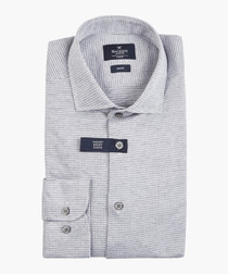 Grey knitted dogstooth shirt
