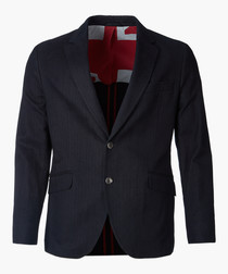 Navy two-button jacket