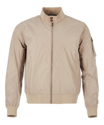 Memory sand zip-up jacket