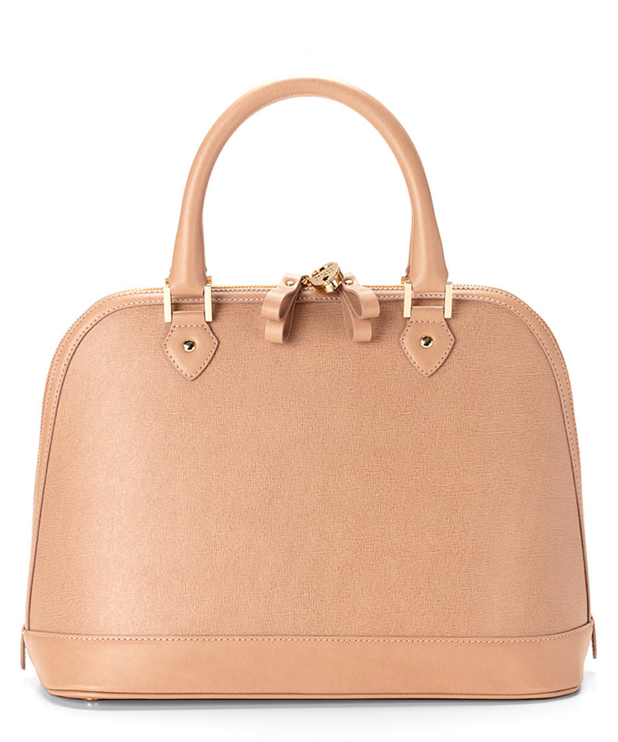 Hepburn nude saffiano leather bag Sale - Aspinal of London