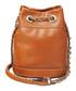 Tan leather bucket crossbody bag Sale - Aspinal of London Sale