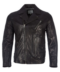 Seaton black leather jacket