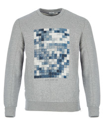 Jankel grey marl graphic jumper