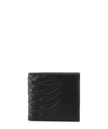 Rib Cage black leather wallet