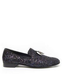 Spacey black glitter loafers