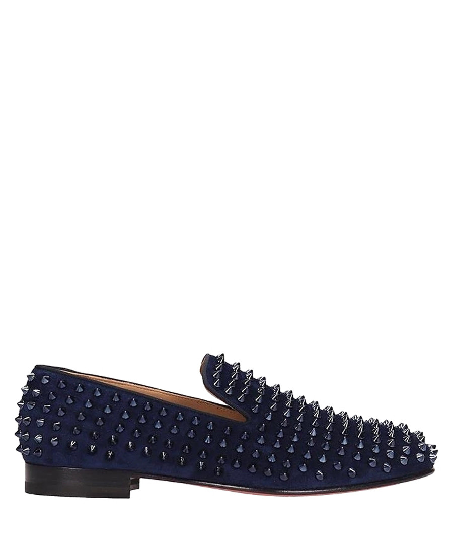 Marine blue suede rollerboy loafers Sale - christian louboutin