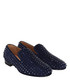 Marine blue suede rollerboy loafers Sale - christian louboutin Sale