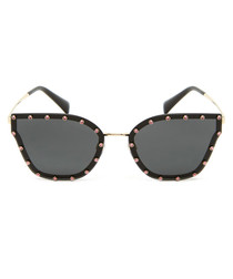 Grey swarovski sunglasses