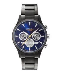 Gunmetal blue steel watch