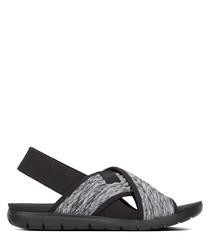 Artknit black sandals