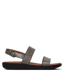 Barra natural snake-effect sandals