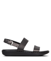 Barra Novelty black leather sandals