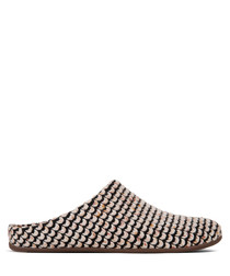 Chrissie urban white knit slippers