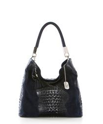 Allessandra blue leather shoulder bag