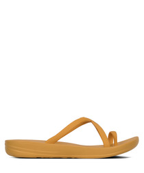 Iqushion Wave yellow flip-flops