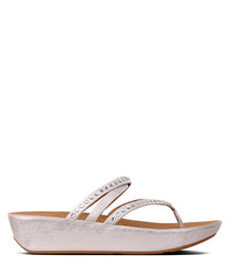 Linny blush & metallic nude sandals