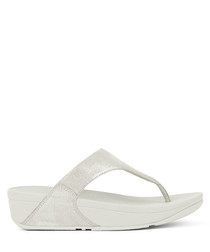 Lulu stone shimmer check sandals