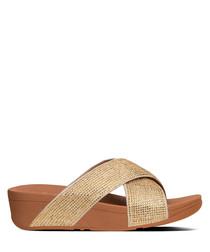 Ritzy gold-tone strap sliders