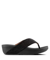 Ritzy black textured sandals