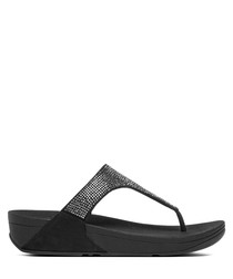 Slinky Rokkit black toe-post sandals