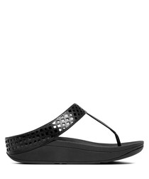 Safi black toe-post sandals