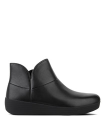 Supermod black leather ankle boots