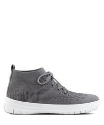 Uberknit pewter slip-on sneakers