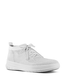 Uberknit urban white slip-on sneakers