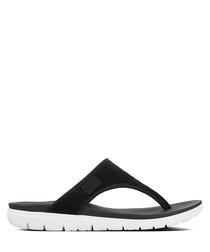 Uberknit black sandals
