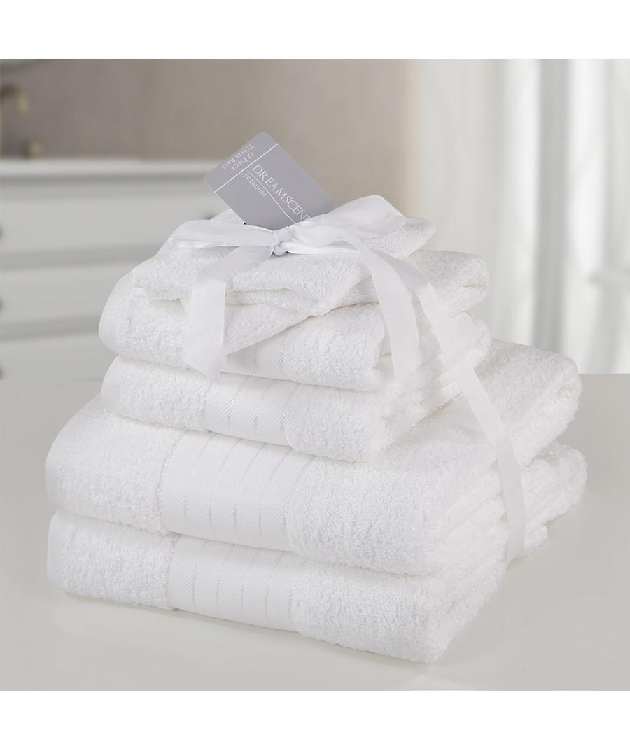 6pc white pure cotton towel bale Sale - DREAMSCENE PREMIUM