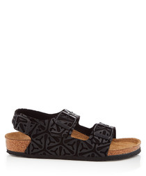 Kids' Milano black patterned sandals