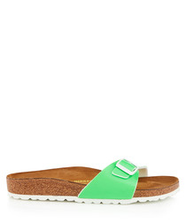 Madrid neon green narrow fit sandals