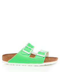 Arizona neon green sandals