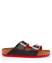 Arizona black & red sandals