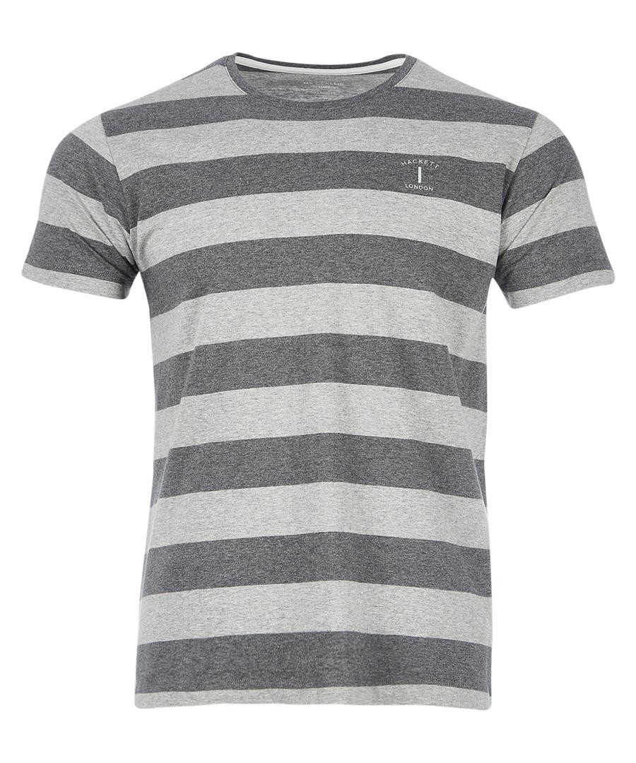 Grey & charcoal striped T-shirt Sale - hackett